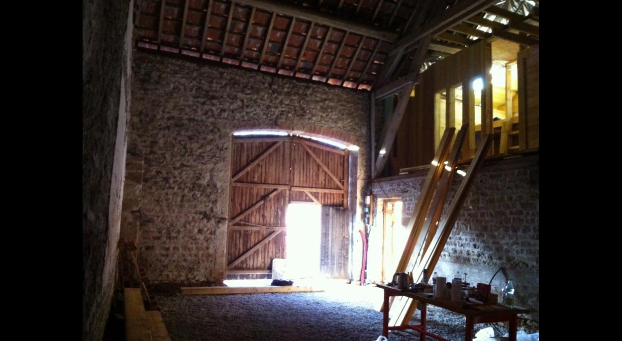Transformation d'une grange en habitation - chantier 2
