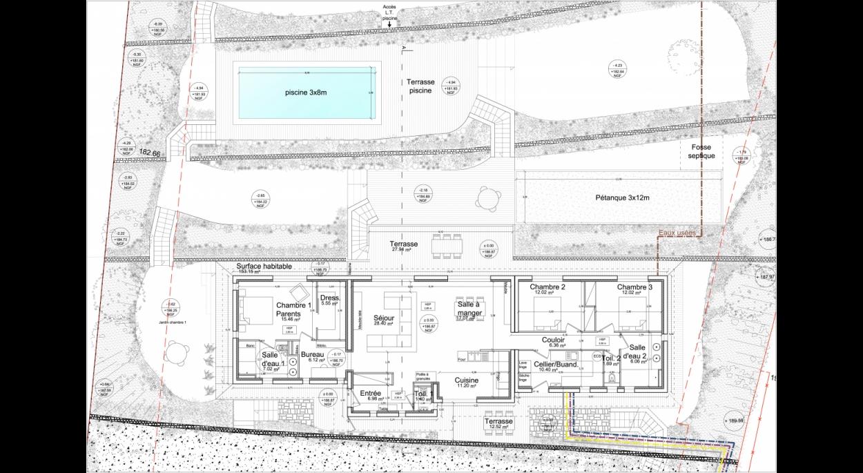 Construction Maison individuelle - Lorgues - Plan de niveau
