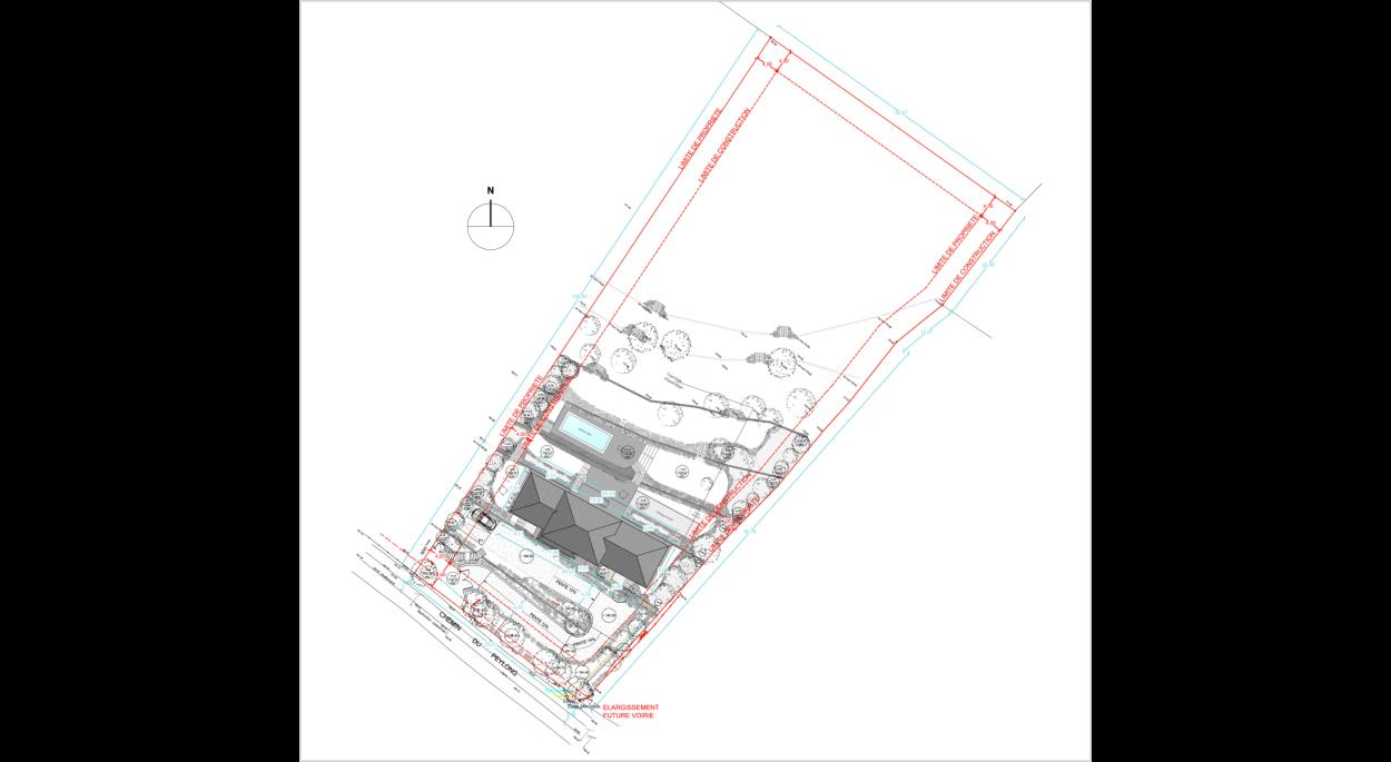 Construction Maison individuelle - Lorgues - Plan de masse