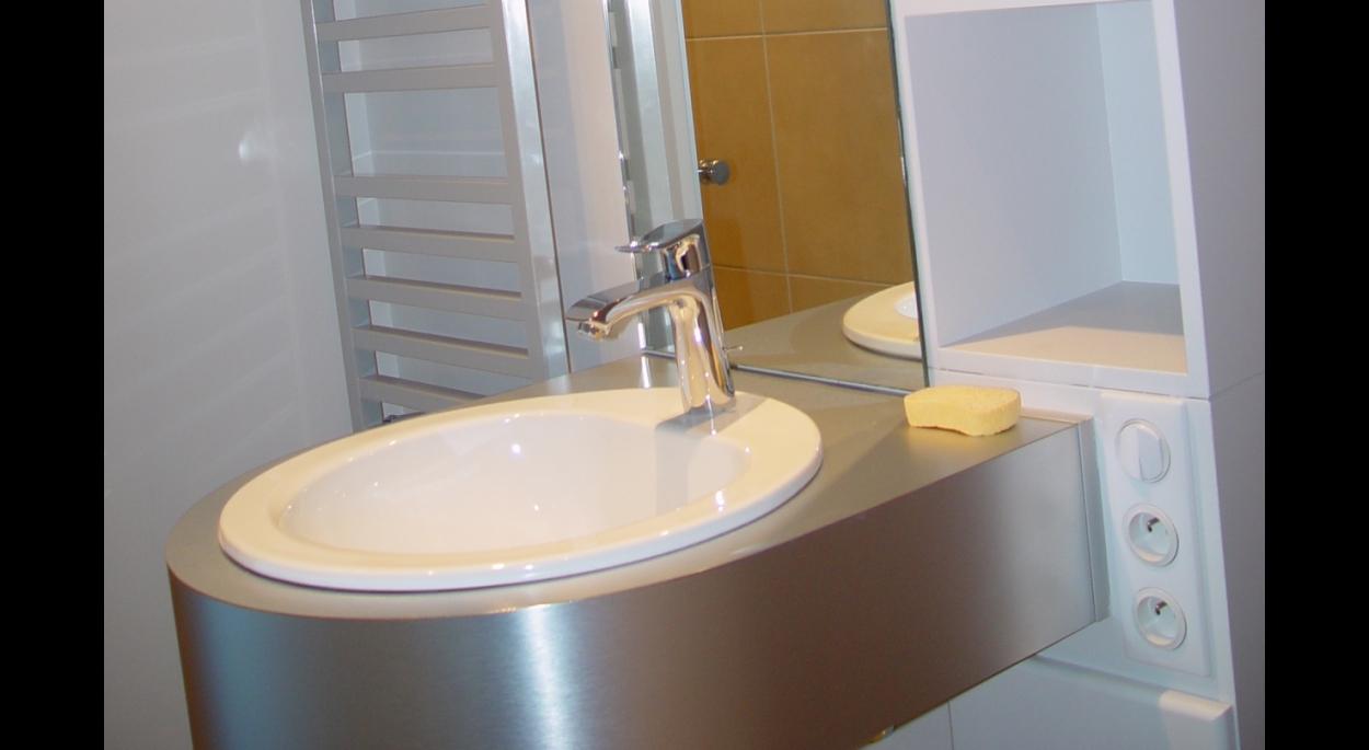 Détail sur salle de bains