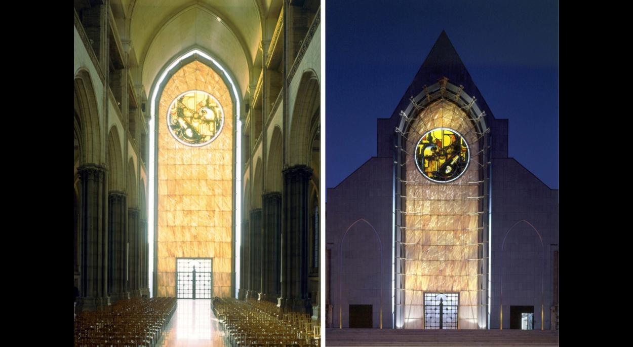 Façade de la cathédrale Notre-Dame de la Treille