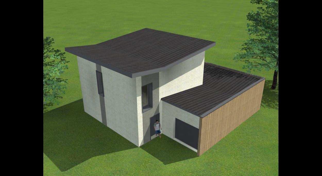 Villa VE - Perspective aérienne sur accès