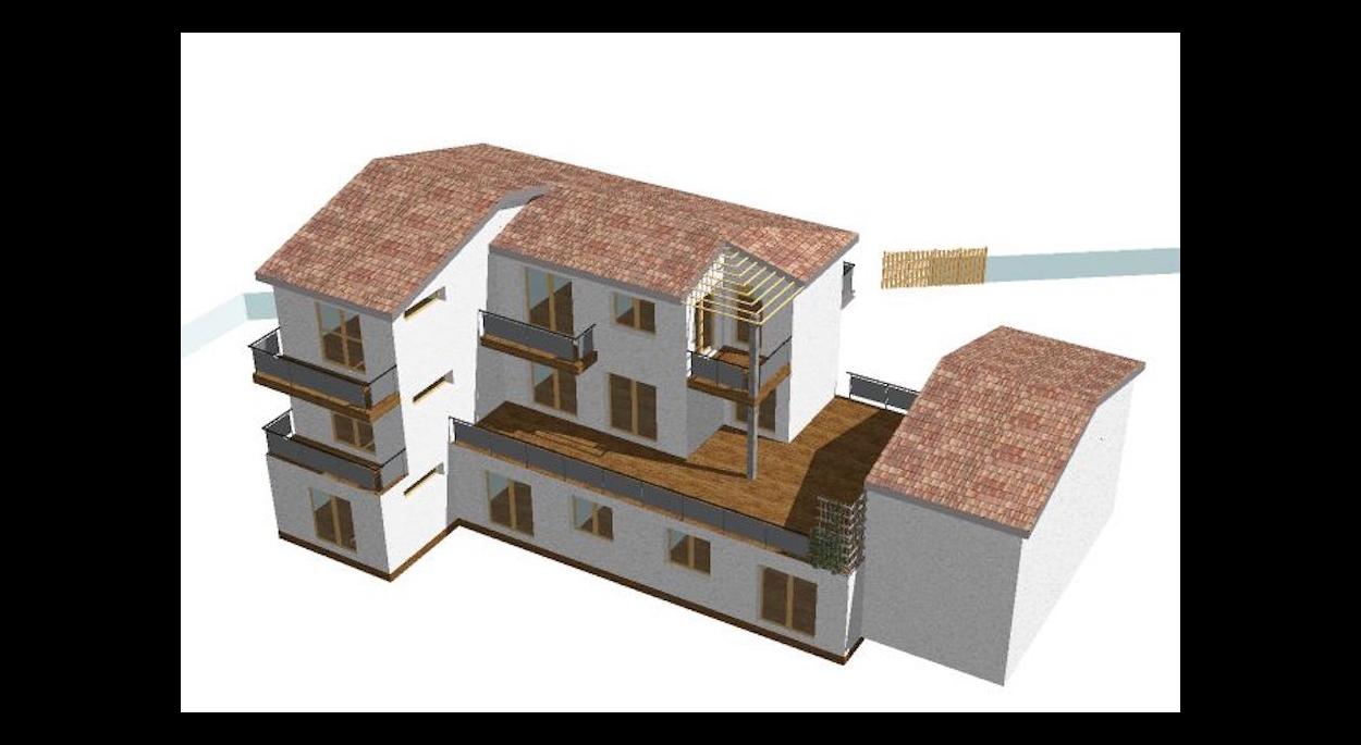 Extension d'une maison individuelle en 7 logements groupés.