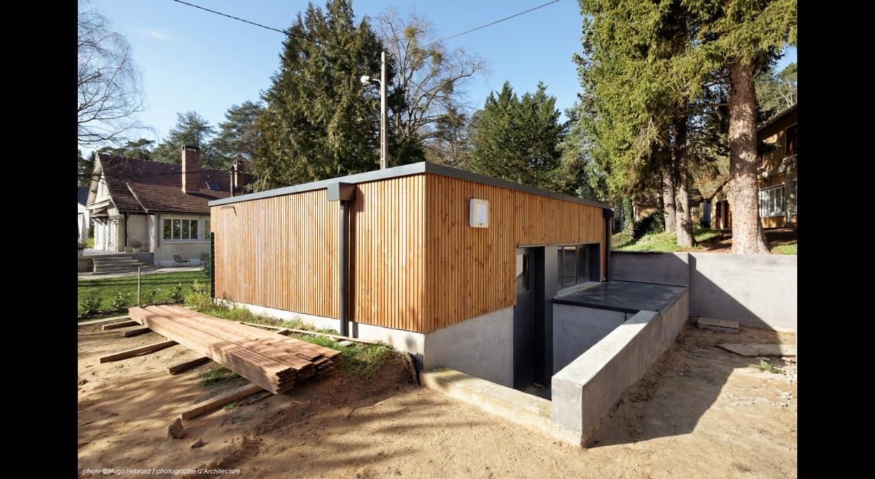 chantier, itteville, extension ossature et bardage bois, reprise structurelle lourde, garage