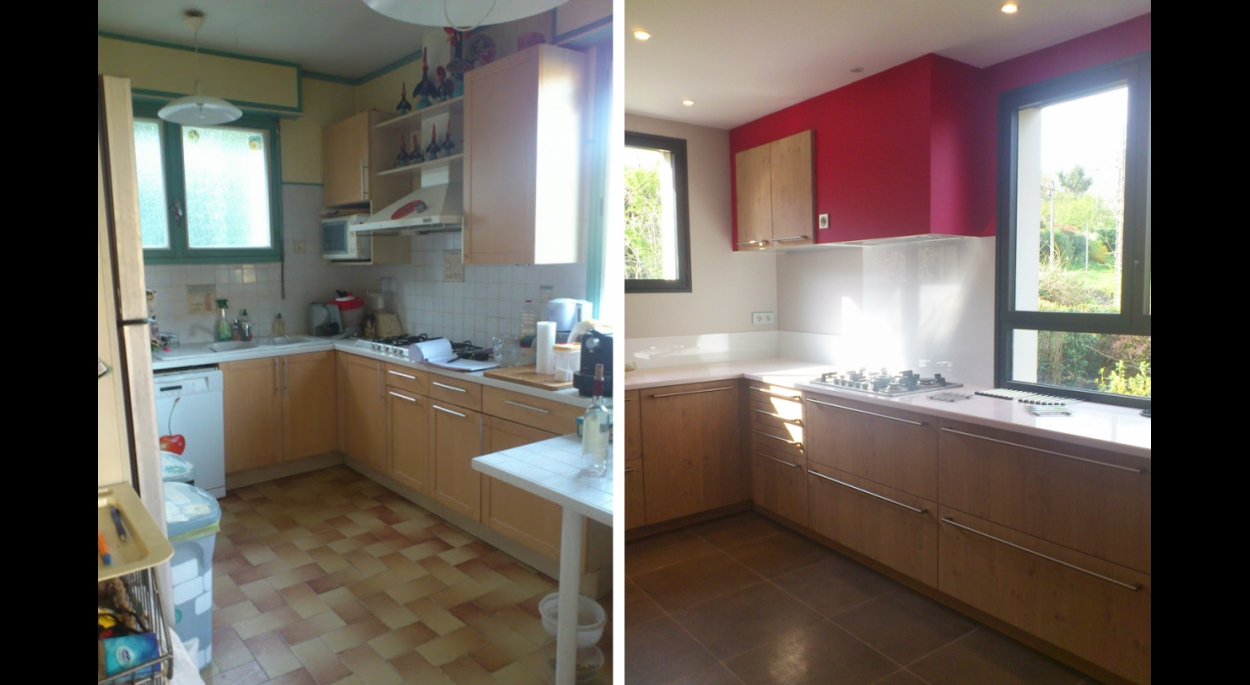 avant/après la cuisine