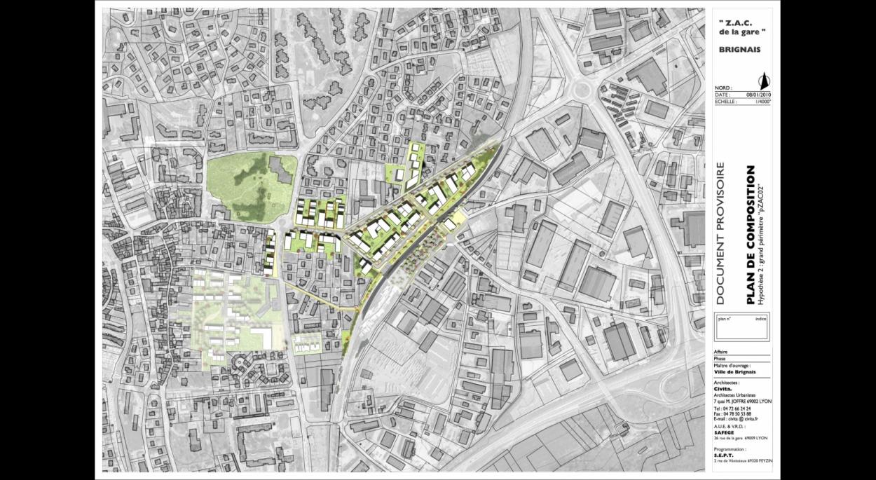 ZAC de la Gare - Etude pré-opérationnelle de création de ZAC - Civita - XXL Atelier