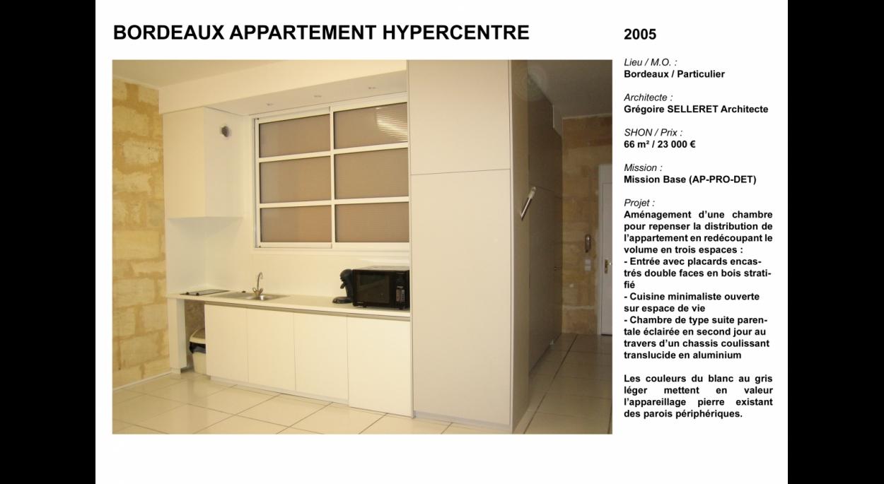 Aménagement appartement hypercentre Bordeaux