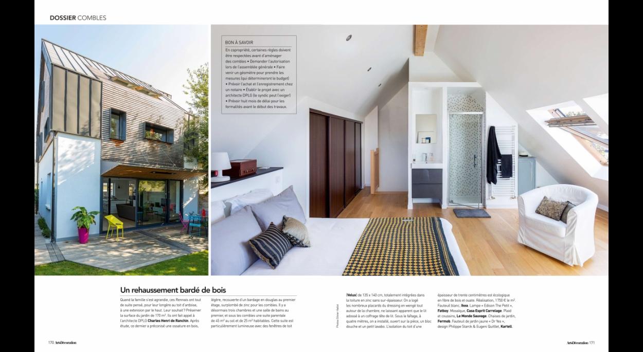 Projet publié dans le magazine Art et décoration