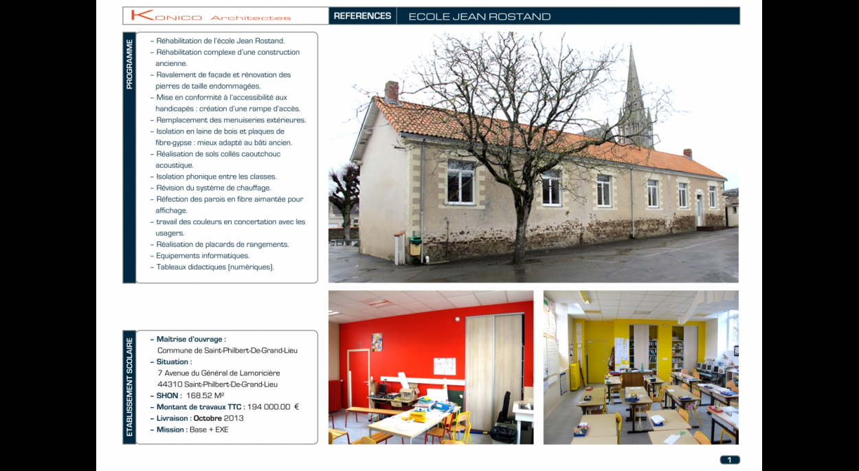 Ecole Jean Rostand - Saint-Philbert-De-Grand-Lieu - page 01