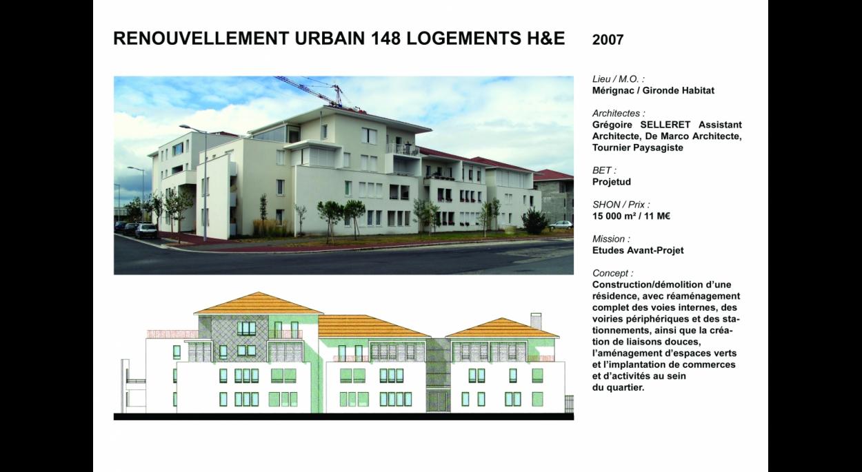 148 logements H&E à Mérignac