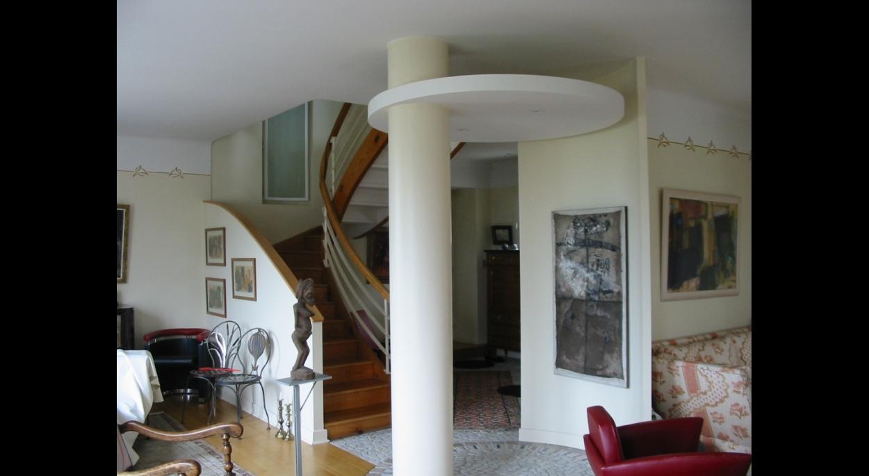 L'accès à l'étage.