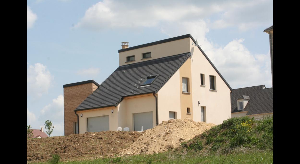 Pavillon neuf architecte esbly mareuil-les-meaux bois