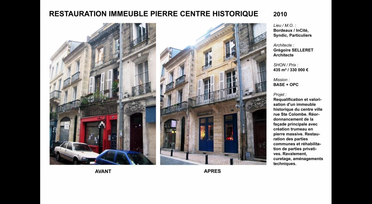 Immeuble pierre Avant-Après