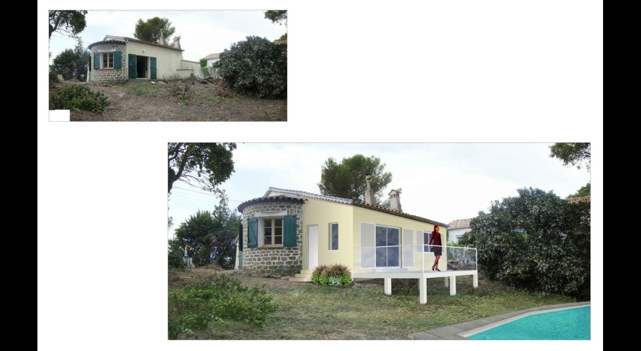Réhabilitation et extension - Maison individuelle - Saint-Aygulf - Insertion