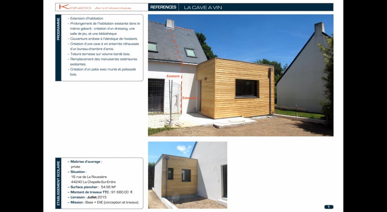 La cave à vin - La Chapelle-Sur-Erdre | KONICO Architectes | NANTES ...