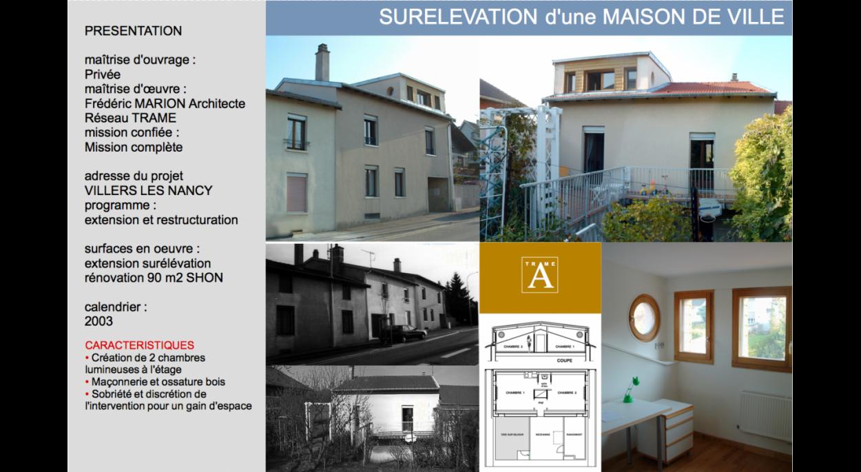 SURELEVATION D'UNE MAISON