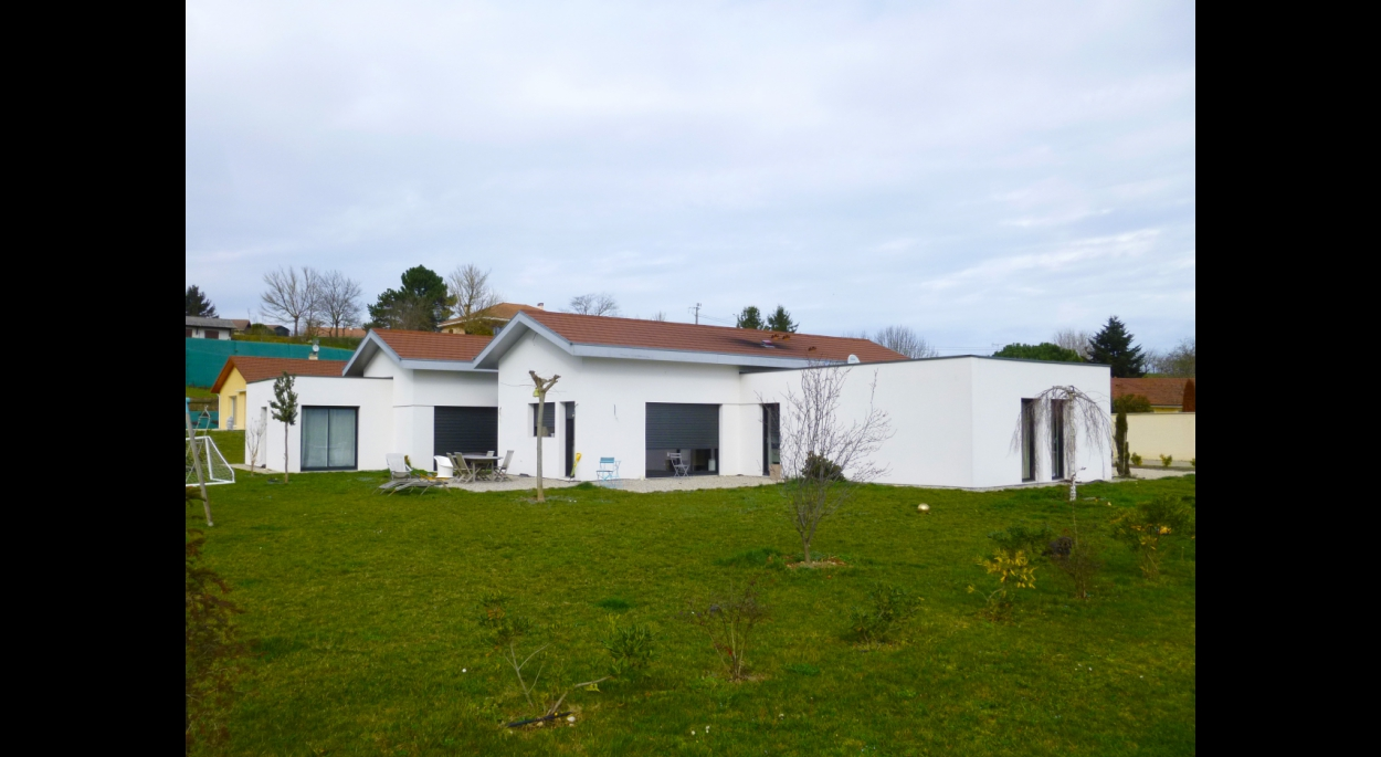 Façade principale - Maison Arnaud  - Adhoc Architecture - Jean Michel Costaz