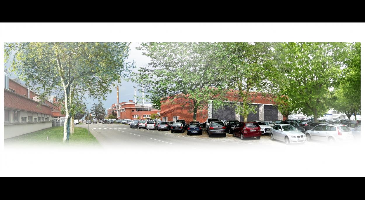 Le projet consiste à la conception et à la  réalisation d'un poste HTB - HTA sur le site d'  AIRBUS à l'usine Saint Martin à Toulouse. Il s'inscrit dans un projet d'urbanisation du site et son i mplantation est prévue à proximité d'autres  bâtiments.  Cette position légèrment centrée s'exprime par le  choix de réaliser un traitement uniforme de toutes les façades. L'enveloppe du bâtiment s'est inspirés  de la gamme de couleurs utilisées sur le site de  Saint-Martin pour intégrer le bâtiment M69 dans  son