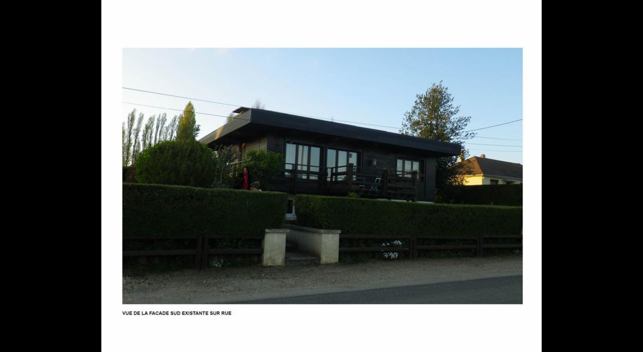 Photo façade maison existante