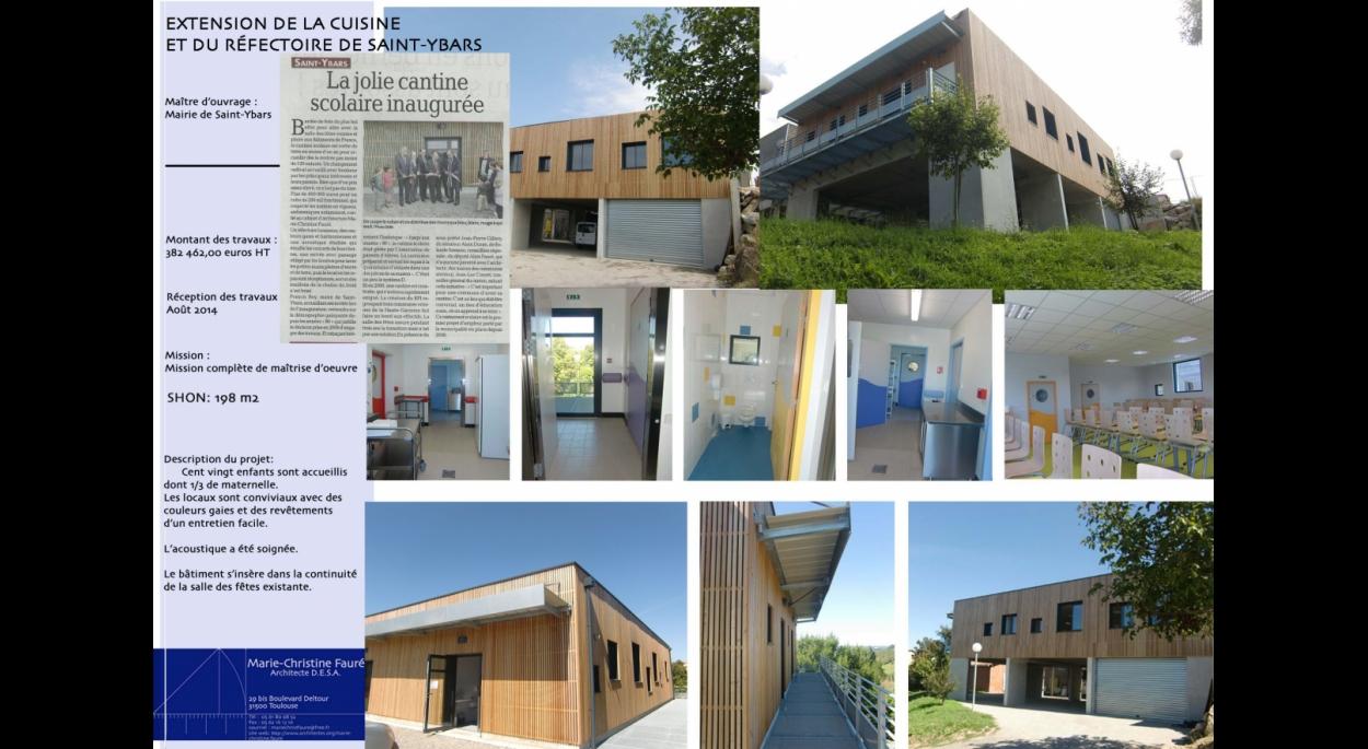 Extension de la cuisine et du réfectoire de Saint-Ybars