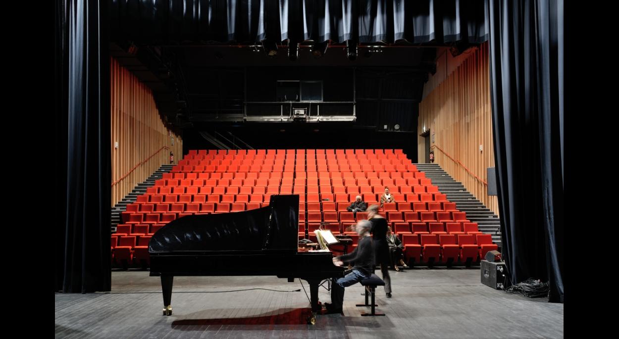 Vue intérieure de l'auditorium de la Cité de la Musique © Studio Erick Saillet