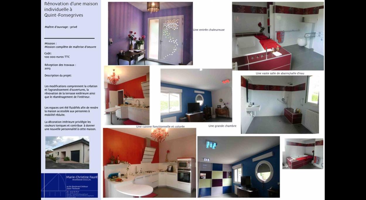 Rénovation d'une maison individuelle à Quint-Fonsegrives