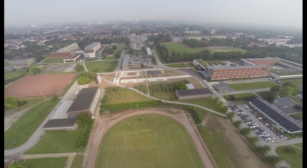Vue de drone en phase finitions