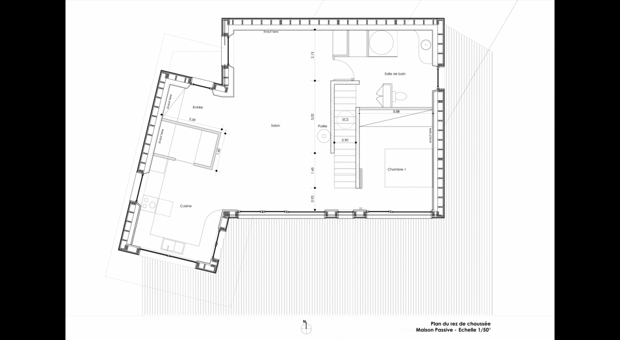 Maison J - Plan Rez-de-chaussée