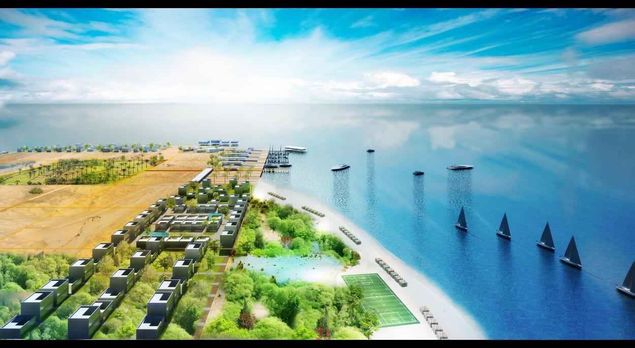 Farasan Eco-Island - Vue aérienne - Main beach