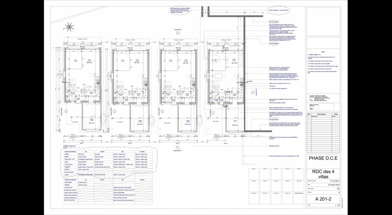 Plan des RdC - Ground floors plan