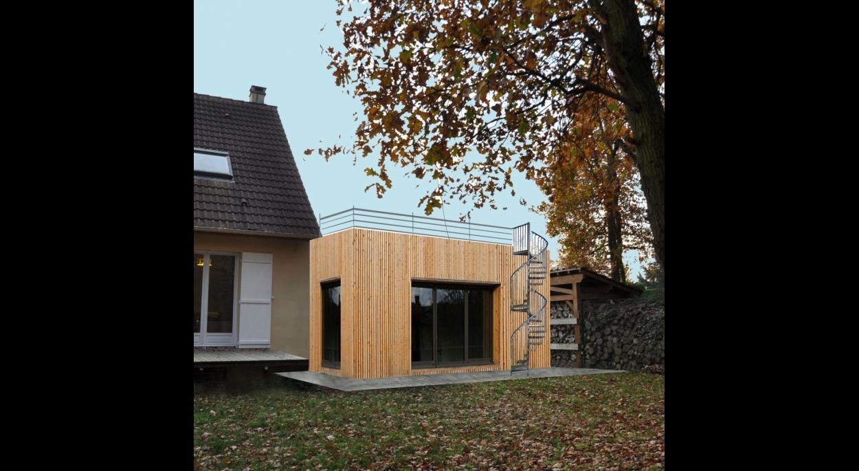 Terrasse En Bois Oise extension de maison bardage bois   vanessa traverse   nogent