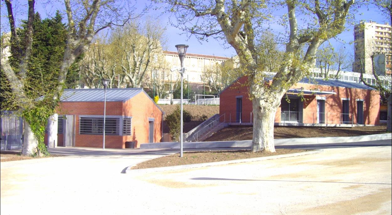 Création d'une loge et d'un logement au Lycée La Calade
