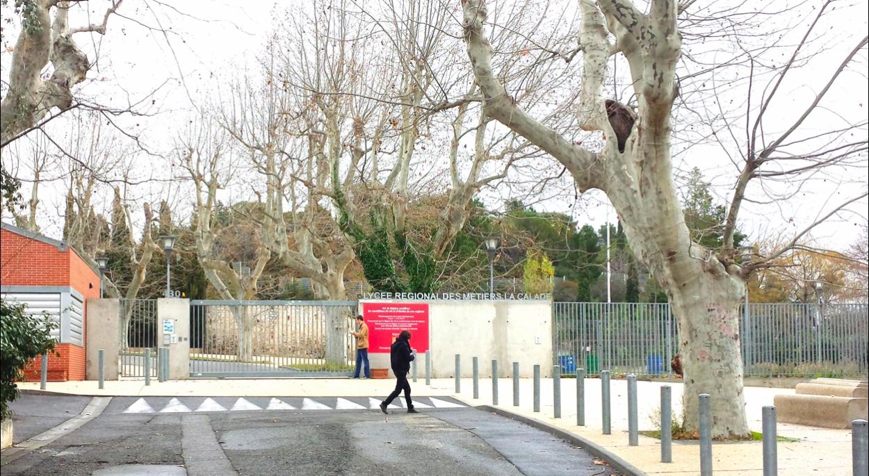 Restructuration de l'entrée principale au Lycée La Calade