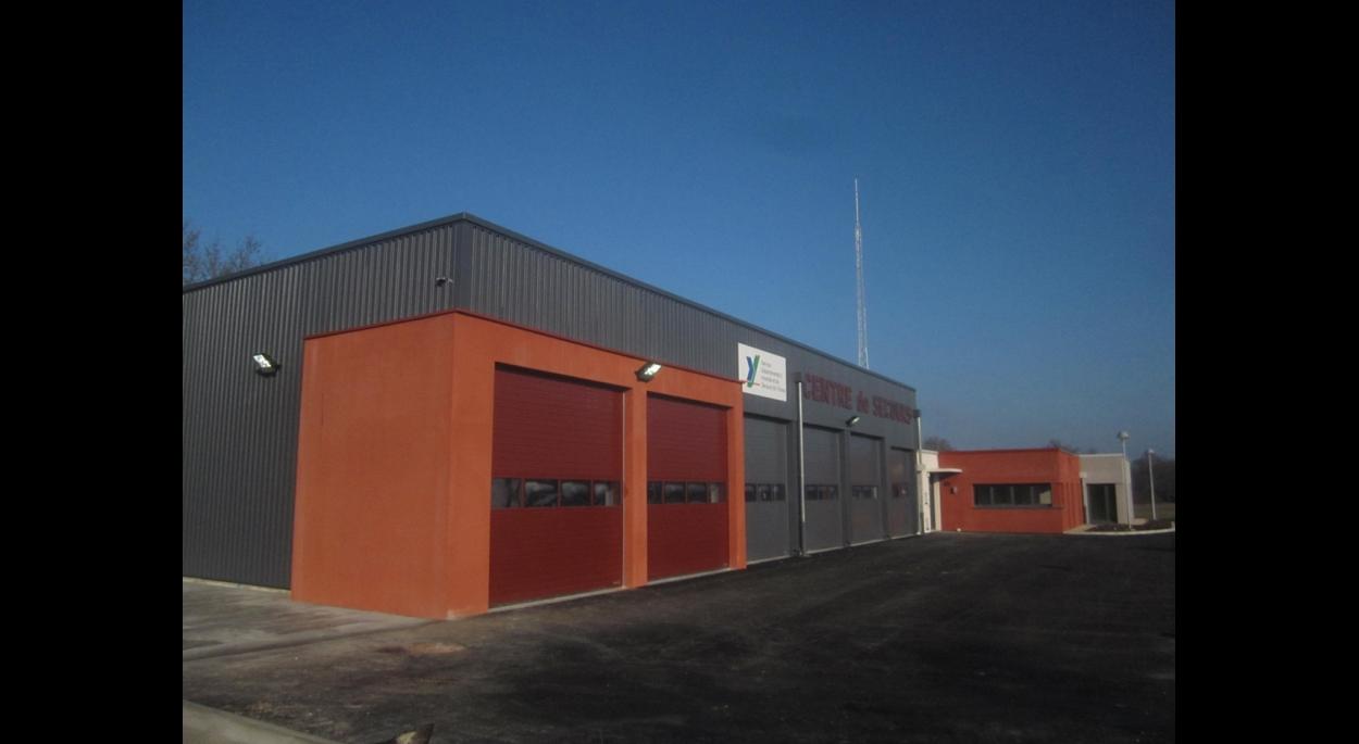 Bâtiment construit pour le SDIS de l'Yonne