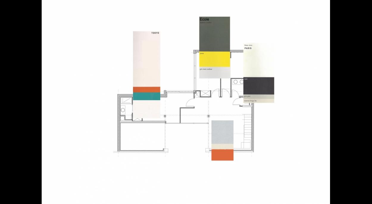 Aménagement loft plateau brut couleurs