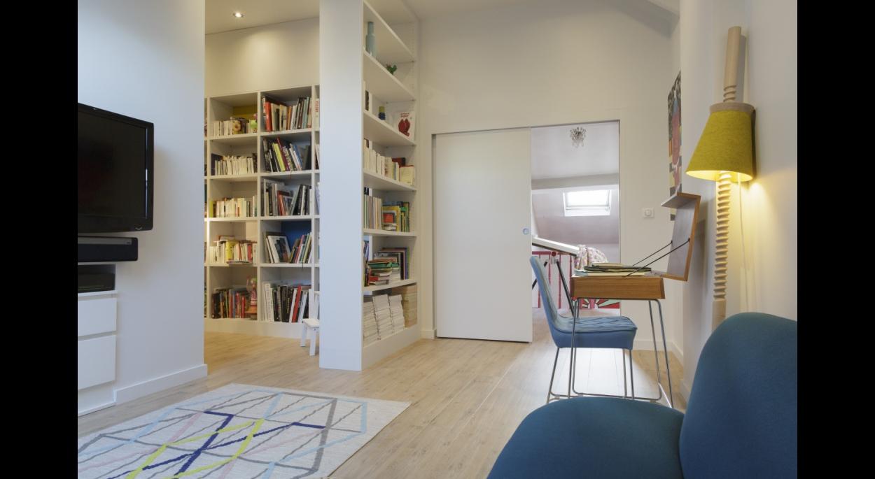 Aménagement de combles à Lille - Bien Chez Soi -  Crédit photo: Laurent Mayeux.