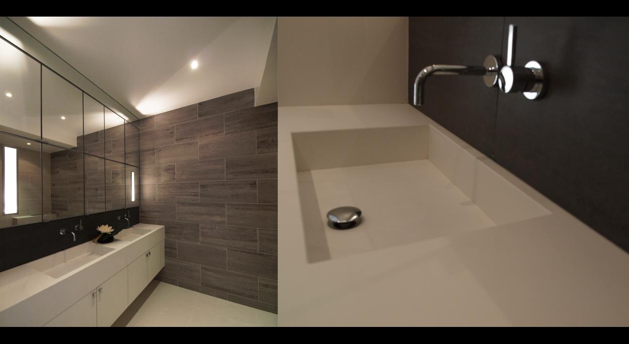 plan de salle de bain en pierre reconstituée