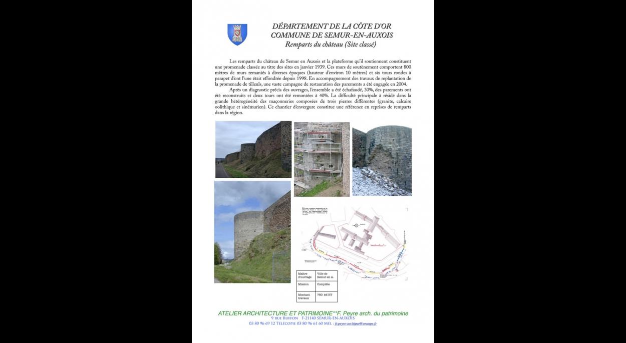 Restauration rempart médiéval site classé