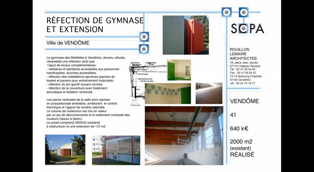 GYMNASE RÉHABILITATION - EXTENSION