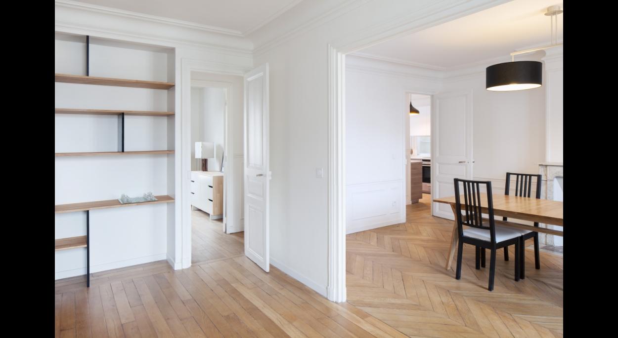 paris meaux / aménagement d'un appartement haussmanien de 70m²
