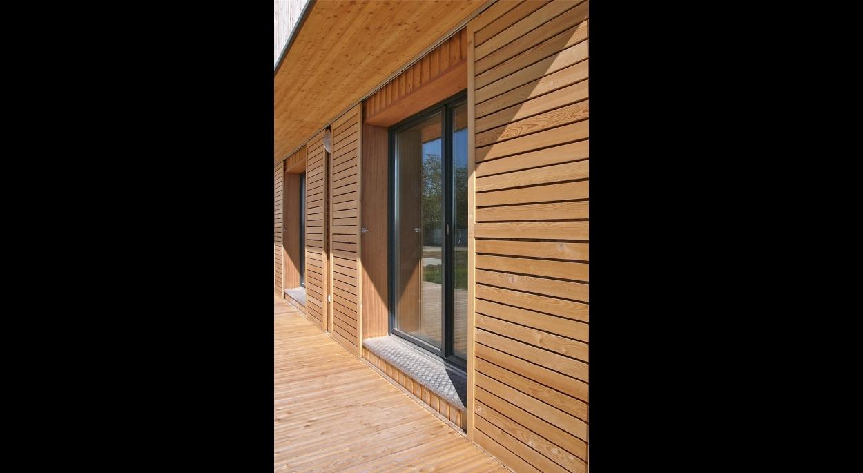 Maison contemporaine bioclimatique et écologique de niveau passif 2