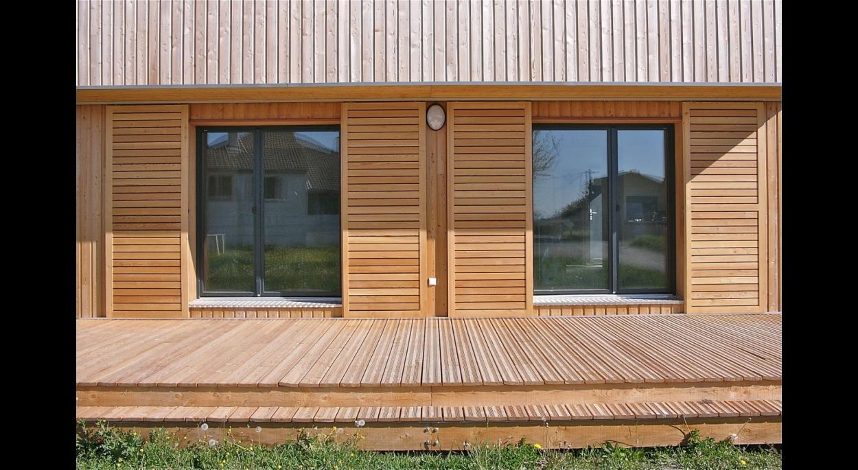 Maison contemporaine bioclimatique et écologique de niveau passif 3