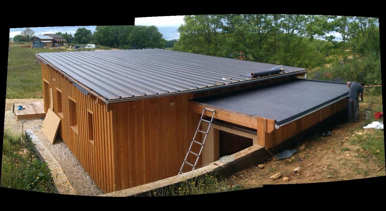 Maison Ossature Bois / éco hameau d'Andral / bioclimatique