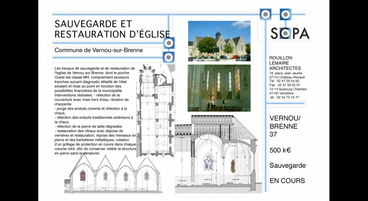 RESTAURATION SAUVEGARDE D'EGLISE