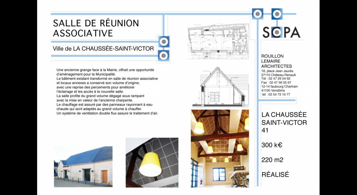 SALLE DE RÉUNION POLYVALENTE RÉNOVATION