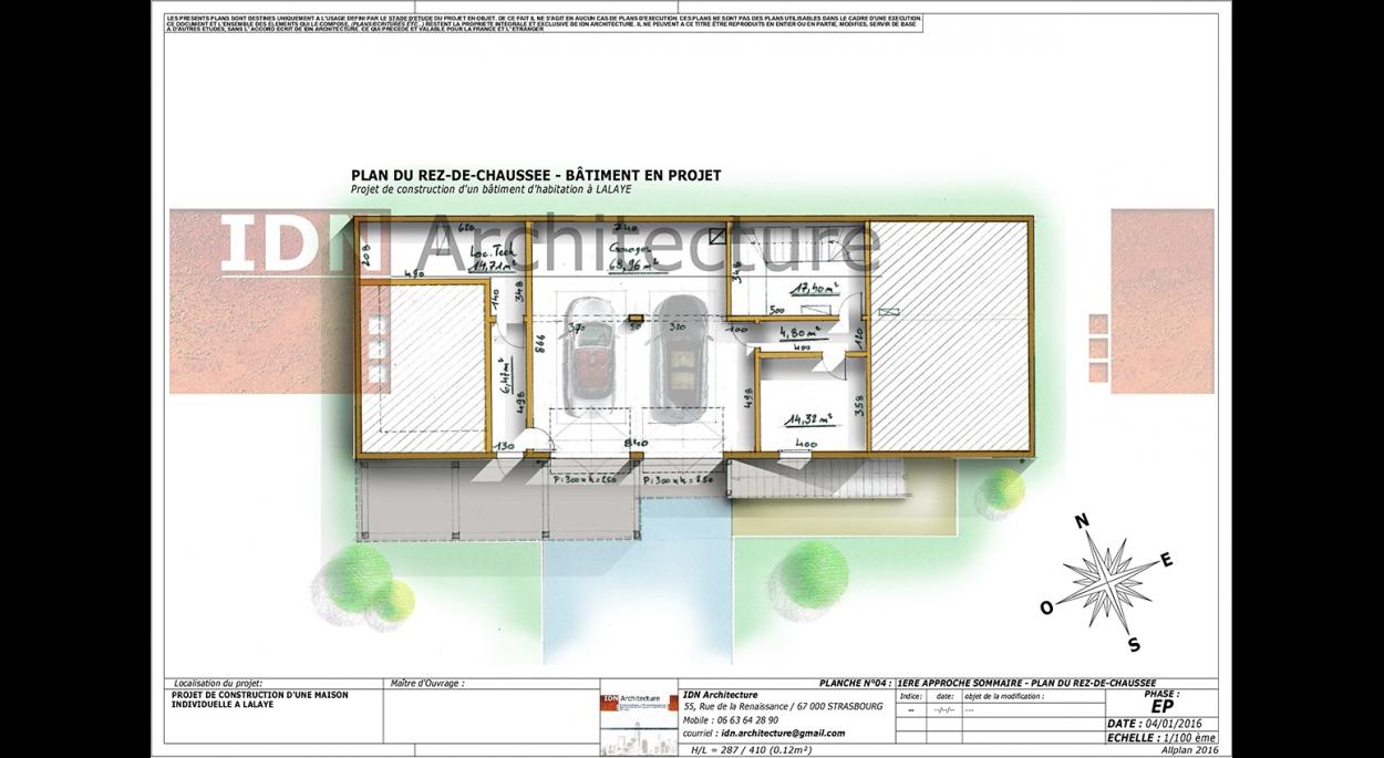 CONSTRUCTION D'UNE MAISON INDIVIDUELLE - LALAYE - IDN ARCHITECTURE