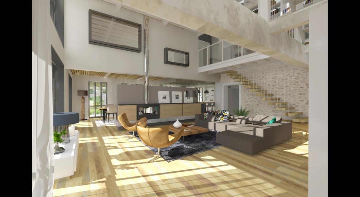 Aménagement d'un Loft à Clisson. architecte : ATELIER 14 (CLISSON)