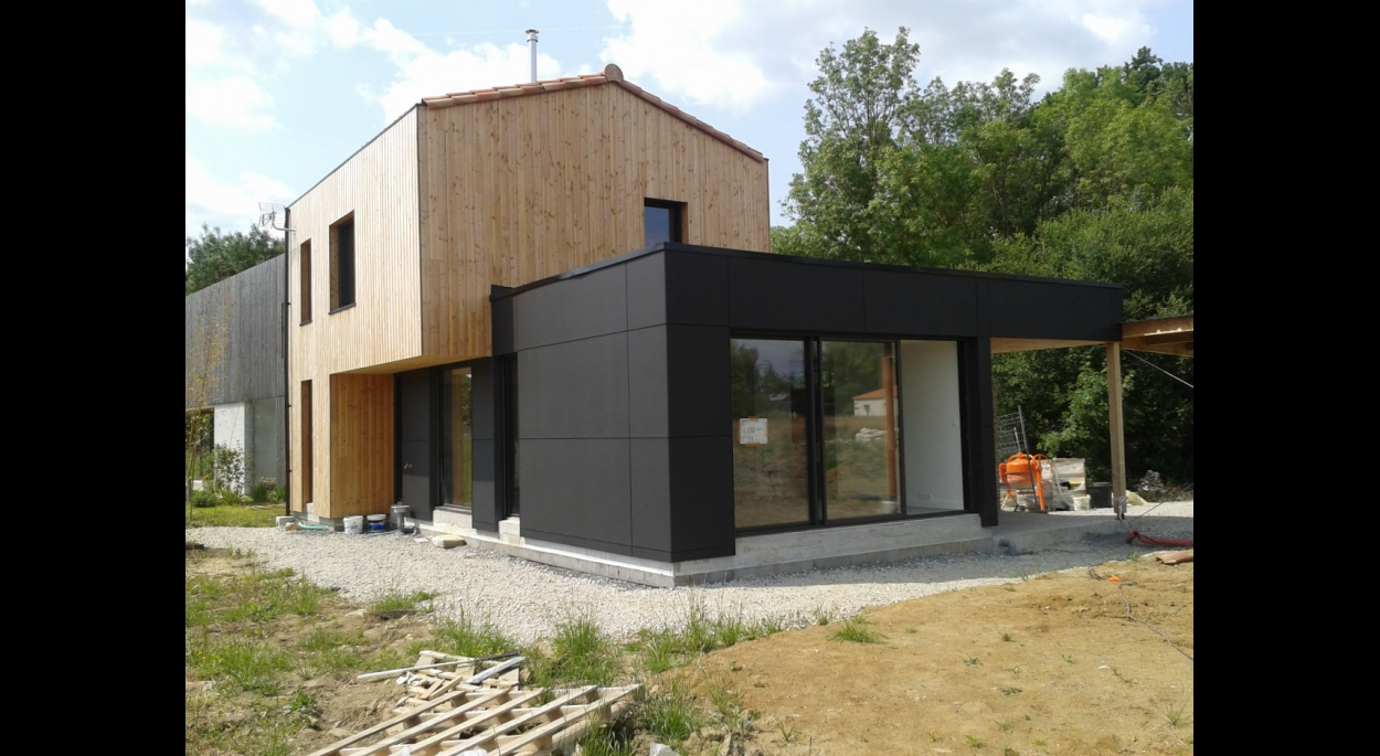 Construction d'une maison à Vallet. Architecte : atelier 14 (CLISSON)