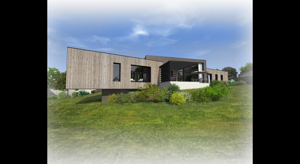 Construction d'une maison à Vertou. architecte Atelier 14 (CLISSON)