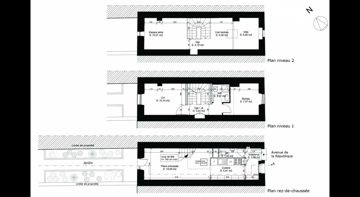 Réaménagement intérieur d'une maison de ville